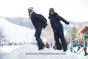 MLK Ski Weekend 2017 Black Ski Weekend ski jump pose