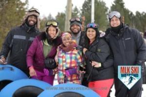 MLK Ski Weekend 2017 Black Ski Weekend tubing friends (1)
