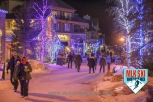 MLK Ski Weekend 2017 Black Ski Weekend village scene at night