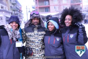 MLK Ski Weekend 2018 team party in the village Winter jackets