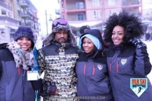 MLK Ski Weekend 2018 team party in the village Winter jackets