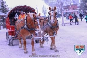MLK Ski Weekend horse and carriage