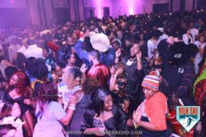 MLK Ski Weekend pajama and lingerie themed party with large crowd