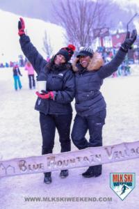 MLK Ski Weekend snow and friends
